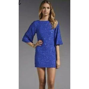 Alice + Olivia Lari Cobalt Sequin Dress 4